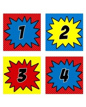 These adorable numbers (1-36) have so many uses in the classroom!  Use them to identify cubbies, label supplies, organize book bins, or display numbers on desks.  *3.5x3.5 Square of each number