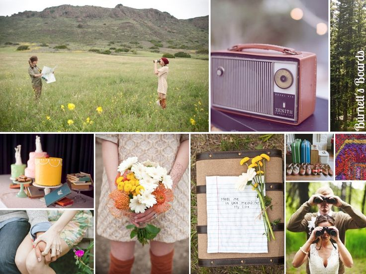 {moonrise kingdom} a Wes Anderson Moonrise Kingdom wedding inspiration board - perfect for an elopement theme or engagement shoot! http://burnettsboards.com/2012/11/moonrise-kingdom-wedding/