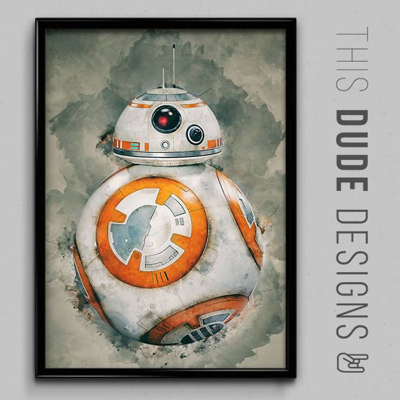 😍 One of the favourites in my shop : Star Wars BB-8 Water Colour Original Digital Painting Art Poster  https://www.etsy.com/listing/537102429/star-wars-bb-8-water-colour-original?utm_source=crowdfire&utm_medium=api&utm_campaign=api