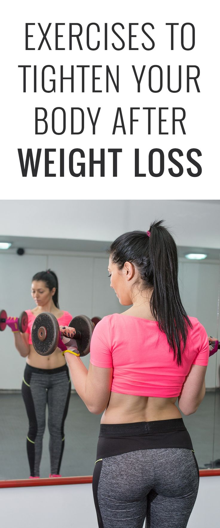 Sometimes when you lose weight you also gain loose skin. This problem most often develops in your face, neck, under arms, abdomen and thighs. Some exercises can help to tighten these areas.