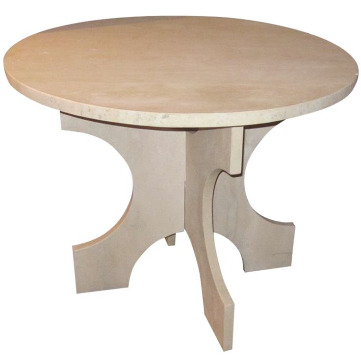 Italian travertine side/center hall table. www.balsamoantiques.com