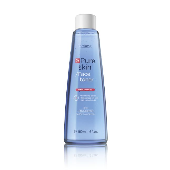 Oriflame Pure Skin Face Toner (20620) - Help tighten pores and reduce pore size. Leaves skin feeling fresh and clean, tones without drying it out. Use every day before your Pure Skin Shine Control Cream. 150 ml.