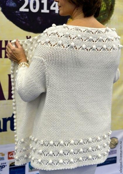"""Пиджаки, жакеты ручной работы. Ярмарка Мастеров - ручная работа жакет-трансформер""""Белоснежный"""". Handmade."""