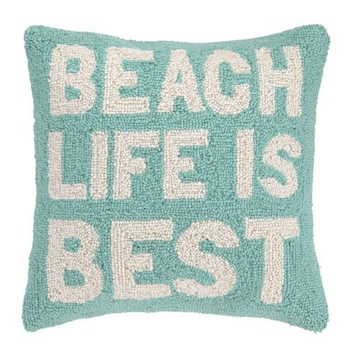 beach life is best hook pillow