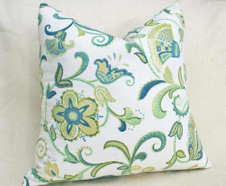 Small Green Throw Pillow : 17 Best images about Blue and yellow on Pinterest Blue and, Cushion covers and Throw pillows