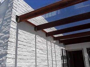 techo de parrillero con compacto mm apariencia vidrio