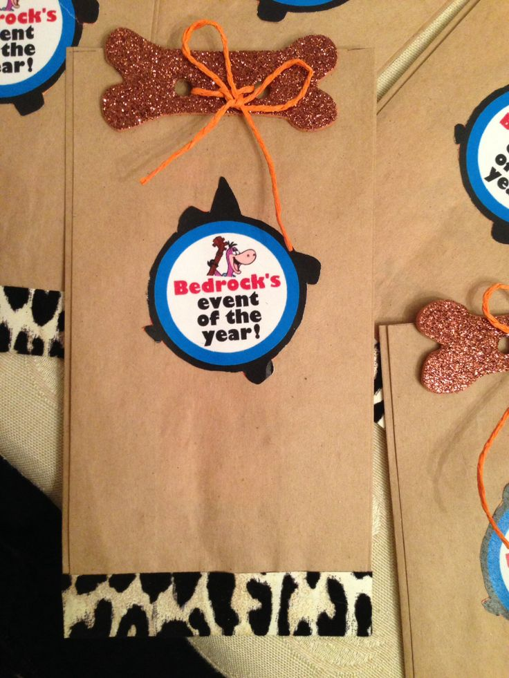 Flintstones Invitations.....all done by me