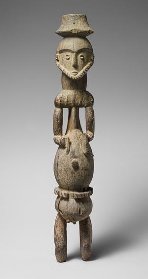 Ancestor Figure (Ekpu), 18th–19th century  Nigeria, Calabar Province; Ibibio peoples, Oron group  Wood  H. 27 1/2 in. (69.9 cm)