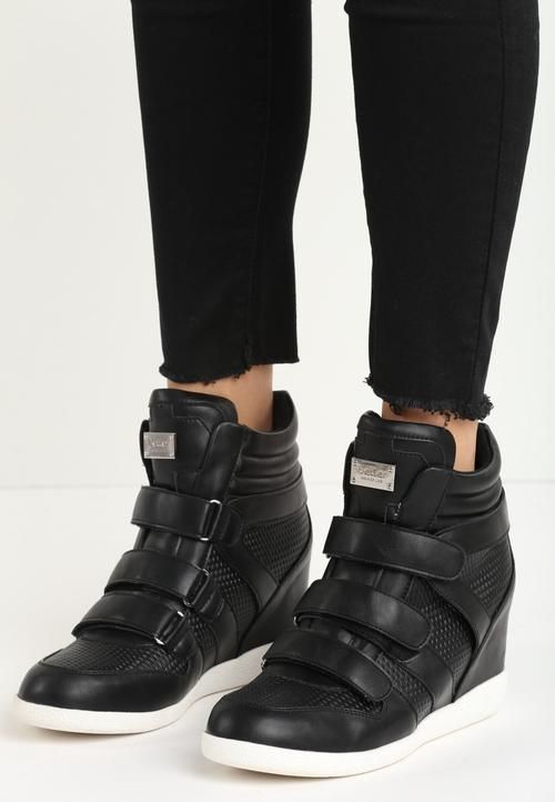 0fa5bd714 ANNIE Wedge Sneaker - Black | VICES Sneakers | Sneakers, Black wedge ...