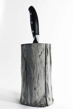 Driftwood knife Block. Kitchen centerpiece. Scandinavian design. Modern knife Block