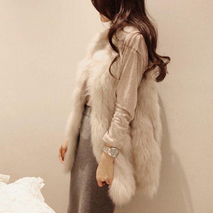 Новый шелковый - зима женщин корейской модели кожаный жилет меховой жилет меховой жилет пальто трава FC2