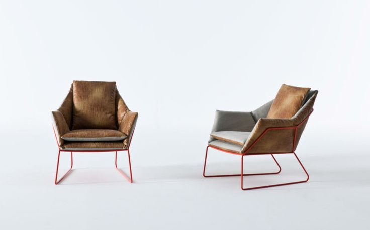 New York Chair By Sergio Bicego For Saba Italia, 2 Solid Orange With  Chrome, And One As Shown.