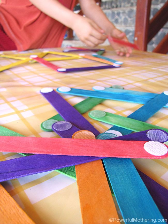 Velcro Dot Craft Sticks - So simple yet perfect creative play for kids! Plus they can help make them!