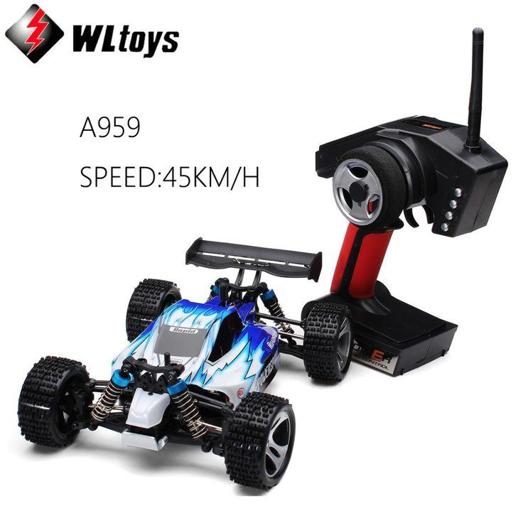 WLtoys A959 Elektrische 1:18 Rc Auto 4WD Shaft Drive Vrachtwagens Hoge snelheid 45 KM/U Radio Control Monster Truck Super Power Klaar om Run