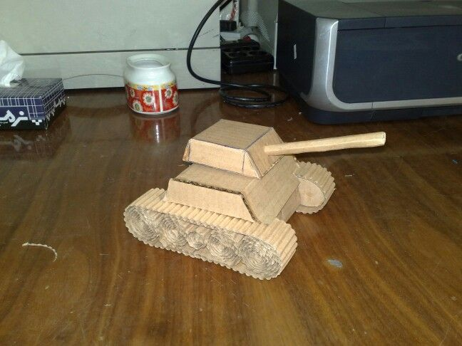 Built with cardboard without use of educational models