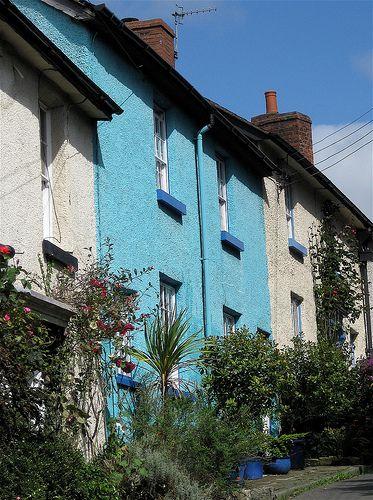 Blue house, Bishop's Castle, Shropshire