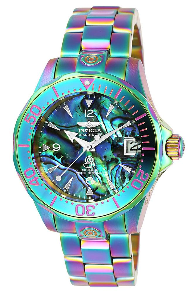 Invicta Pro Diver Womens Automatic 38mm Iridescent Case Green de4ffc5ff9