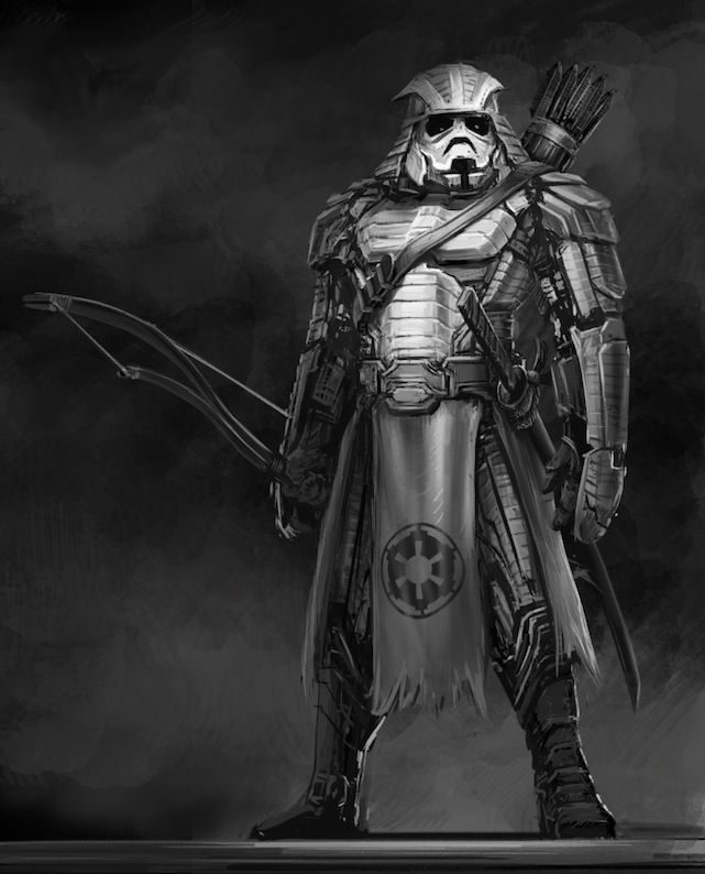 Star Wars Samurai in Feudal Japan by Clinton Felker: Darth Vader, Feudal Japan, Storms Troopers, Stars War Art, Character Illustrations, Samurai, Fans Art, Stars War Character, Starwars