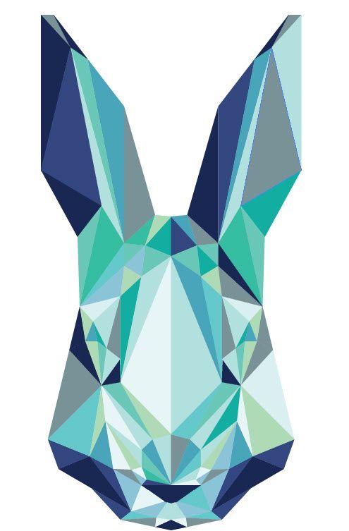 rabbit geometric colours