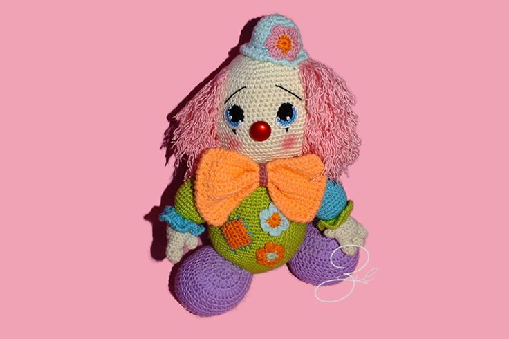 Amigurumi Clown /Boy based on Havva Ünlü's pattern.