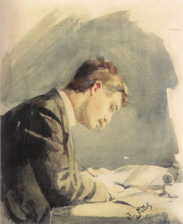 Julian Falat  – Self-Portrait at the Desk (1873)