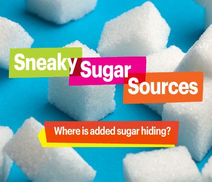 Watch Out for These Sneaky Sugar Sources: The average American eats about 22 teaspoons of sugar a day, but the American Heart Association recommends a limit of 5 teaspoons a day for women. Eek! But where is it coming from? Dessert isn't always the main culprit. Read on for more sneaky sources. #SELFmagazine: Average American, Heart Association, Sugar Sources, Sneaky Sugar, American Eating, Maine Culprit, American Heart, Association Recommendations, Sneaky Sources