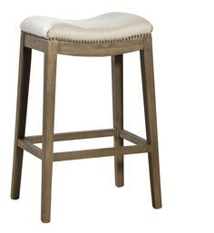 Furniture Classics linen backless bar stool - Designer Fabric Outlet