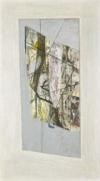 'ZENNOR BIRD' (1950) | Peter Lanyon: Twice signed and dated 50; signed, titled and dated 1950 on the backboard; oil on board; overall: 62 x 35cm; 24½ x 13¾in. From the Bowie/Collector Part II: Modern and Contemporary Art, Day Auction | Sotheby's (11 November 2016; est 25-35,000)     ✫ღ⊰n