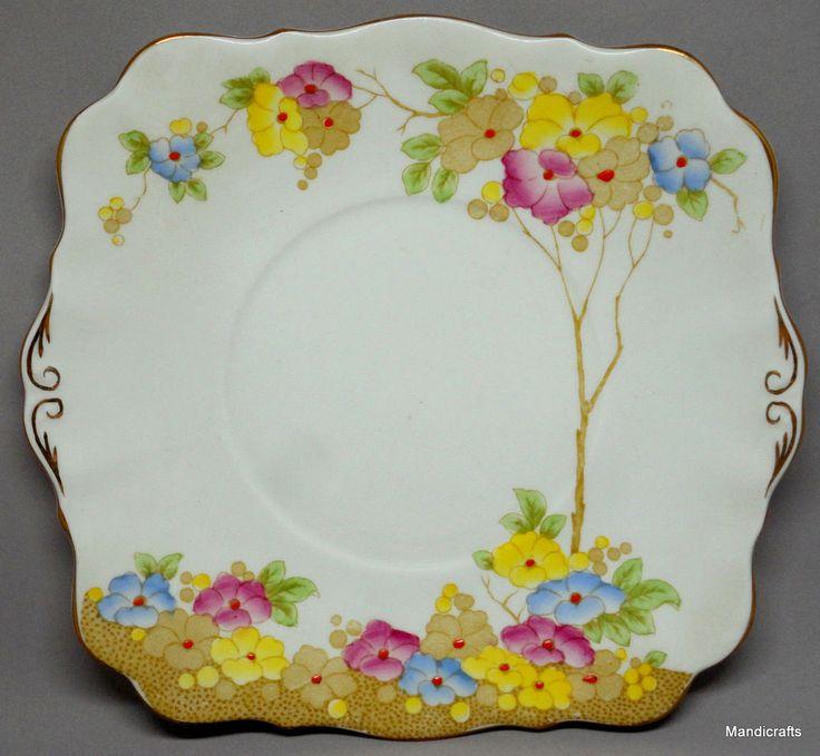 Royal Standard #Plate Square 8\  #Roseate Pattern Floral Bone China UK 1950s unused. Bone ChinaChina ChinaVintage DinnerwareVintage ... & 168 best Vintage Dinnerware Tableware Crockery images on Pinterest ...