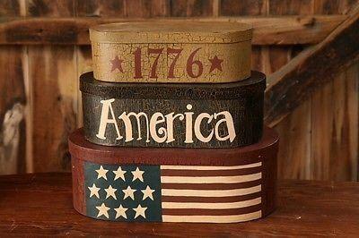 """1776 America"" Nesting Boxes"