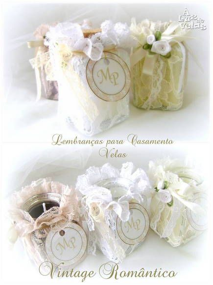 Lembrança de Casamento - Vintage | À LUZ DE VELAS | http://www.elo7.com.br/aluzdevelas/lembrancas/al/18861