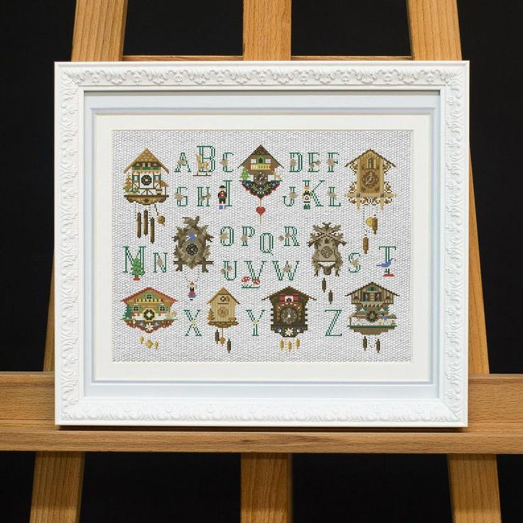 Alphabet with a Clock Cross Stitch Pattern | Craftsy