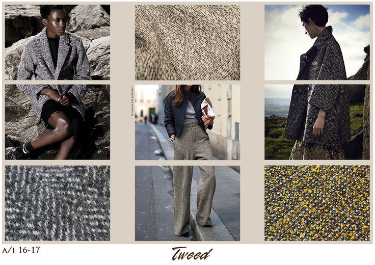 Su Fashion For Breakfast troverete anche tavole sulle tendenze dei tessuti. Per ogni articolo non ci sarà solo una tavola ma diverse, che spiegheranno i vari tipi di tessuto in tanti modi. L'immagine postata sul tweed è un esempio.