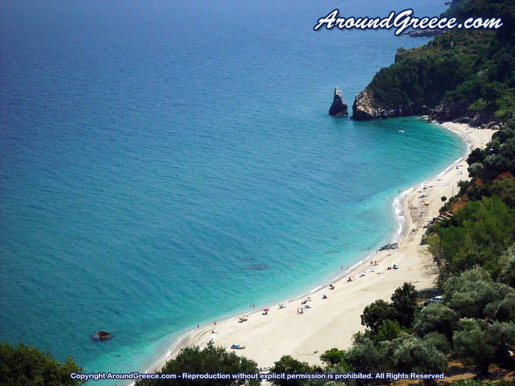 The fantastic beach of Agioi Saranta  http://www.aroundpelion.com