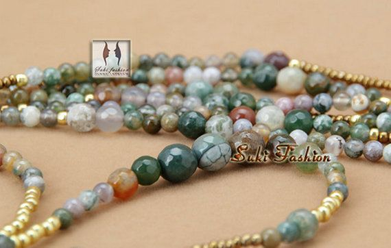 New Top Quality Handmade Natural India Agate with Seed by VanLinh
