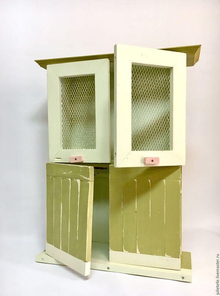 Купить Шкафчик подвесной оливковый - оливковый, Мебель, мебель для дачи, веранда, декор веранды