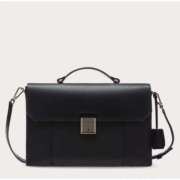 Bally YORKS Men's leather briefcase in black (21095 MAD) ❤ liked on Polyvore featuring men's fashion, men's bags, men's briefcases, mens leather briefcase and mens briefcase