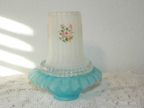 Fenton Glass Hand Painted Vintage Fairy Lamp Frosted Collectible Home Decor | eBay