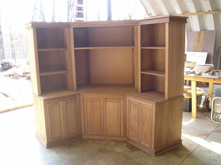 corner entertainment center pictures | Walnut Corner Entertainment Center - by millzit @ LumberJocks.com ...