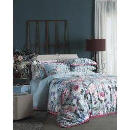 Valeron Jardin - lenjerie de pat de lux din bumbac satinat imprimat digital