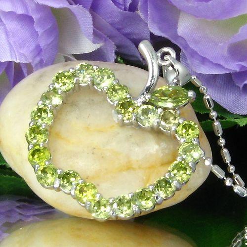 Pandantiv mar placat cu aur alb 18k cu smaralde verzi