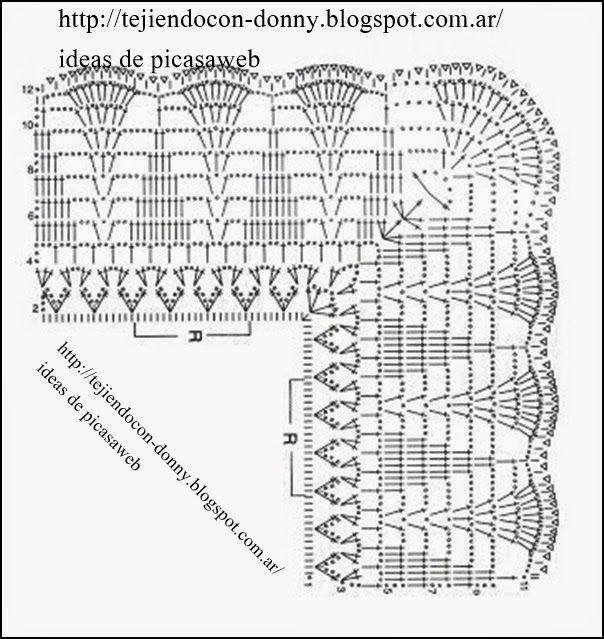 PATRONES - CROCHET - GANCHILLO - GRAFICOS: MAS PUNTILLAS A CROCHET CON SUS PATRONES