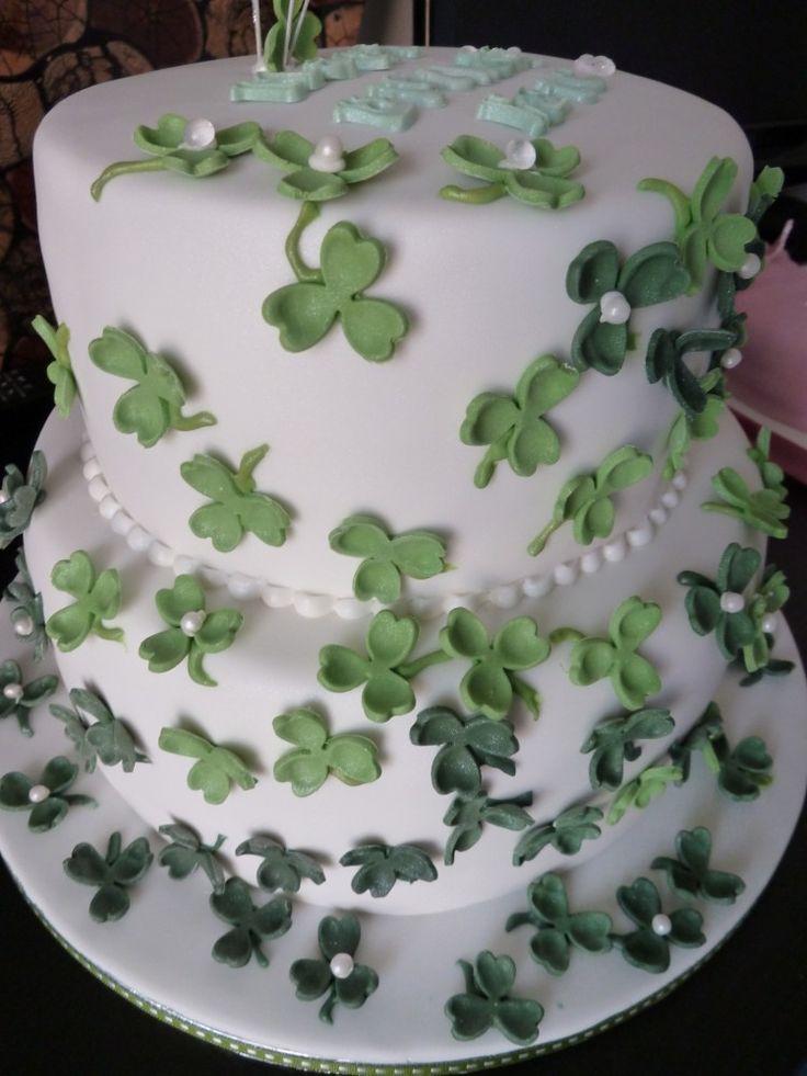two tier irish wedding cake