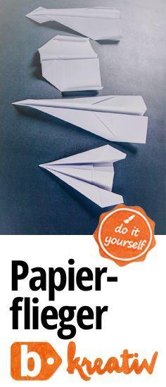 du ich wir hier bauen flieger aus papier