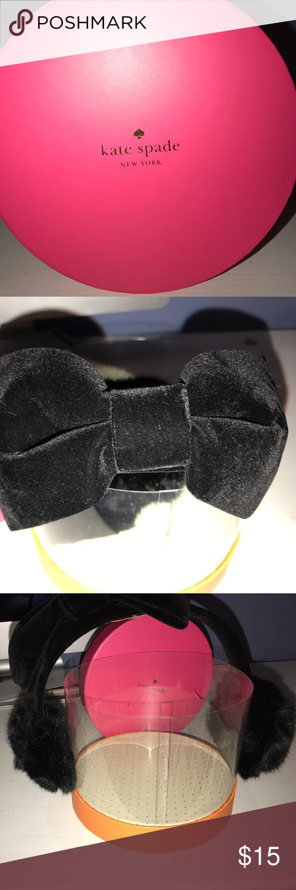 Kate spade ♠️  ear muffs Brand new in super cute box Kate spade ear muffs  cute bow on top kate spade Accessories Gloves & Mittens