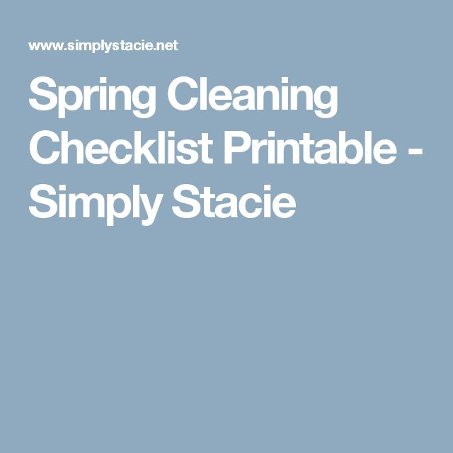 Spring Cleaning Checklist Printable - Simply Stacie
