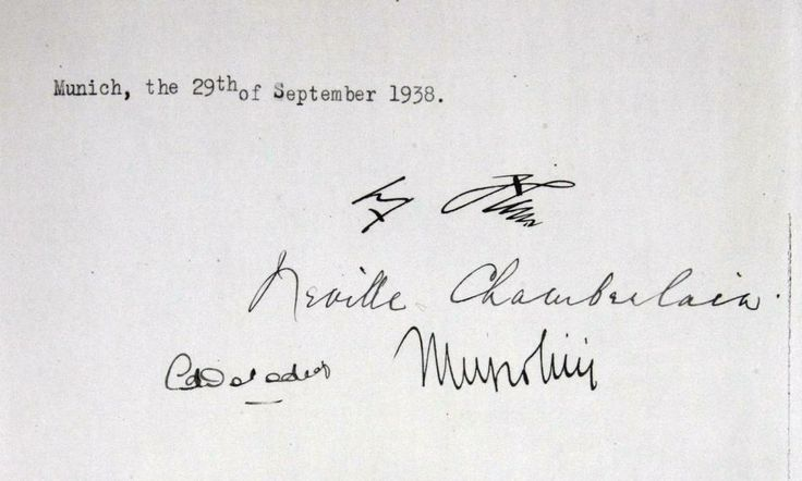 Signature page of the Munich Agreement
