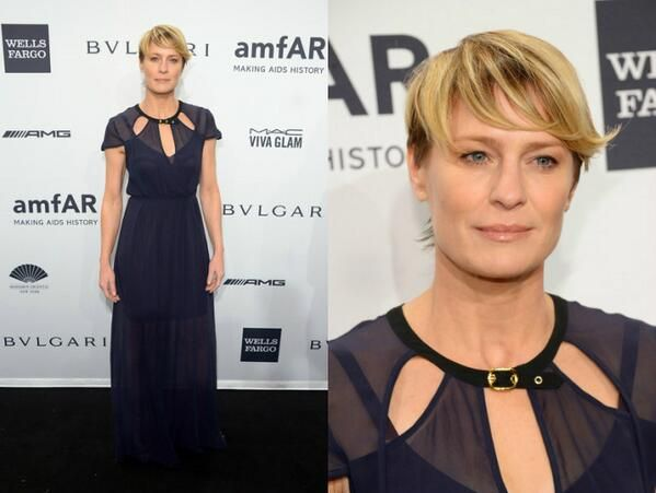 Robin Wright In Kate Sylvester - 2014 amfAR New York Gala. Re-tweet and favorite it heer: https://twitter.com/MyFashBlog/status/431311637958508544/photo/1