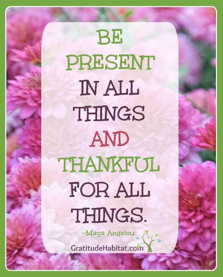 Be present and thankful in all things.   One of the greatest gifts we can give ourselves and those we care about is our presence. Not just our physical presence but fully immersing ourselves in the moment.  Read more...