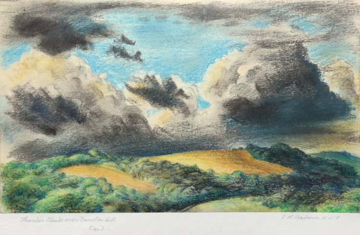 THUNDER CLOUDS OVER DUNCTON HILL by STANLEY ROY BADMIN   original artwork for sale   Chris Beetles
